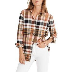 Madewell Ex-Boyfriend shirt Seconda plaid button L
